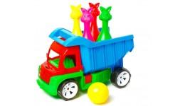 Алєкс грузовик з кеглями (зайці 4шт+шар) БАМСІК 40*24*24 см