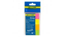 Стікер-закладки BUROMAX 2330-98 паперові. клейкі асорті. NEON 4кол.по30арк 50х20мм (1/48)