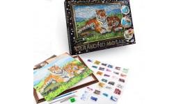 Діамантовий живопис ДМ-01-07 Тигри DIAMOND MOSAIC великий ДТ (1/10)
