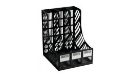 Лоток для паперів BUROMAX 6100 вертикальний 3в1 230*255*305мм ЧОРНИЙ (1)