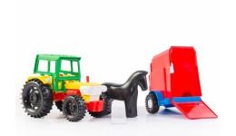 Трактор з причепом 14 5*12 5*38 5см (Wader)