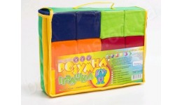 Кубики тканина 12шт Кольорові  ТМ Розумна іграшка