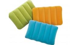 Подушка INTEX 68676 надувна 43-28-9см  3кольори(рож блакитн зелен) в коробці  19-13-4с