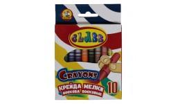 Олівці воскові CLASS 7602 кругла 10 кольорів 8-90мм (1)