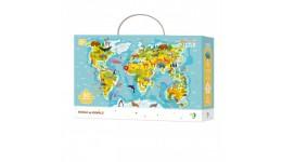 Пазл 300133 Мапа Світу Тварини(dodo)