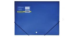 Папка на гумках А4 JOBMAX 3913-02 пластикова синя (1/20)