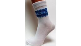 Дитячі шкарпетки DUNA 460 демі  18-20 голуба вишивка 52% поліамід 45% еластан 3%
