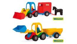 Трактор-багги з ковшем і причепом 17*14 5*42см (Wader)