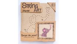 string art Слоник (20*20 см) зроби картинку з ниток