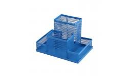 Прибор настільний ZiBi 3116-02 металевий 150х100х100мм синій (1/12/48)