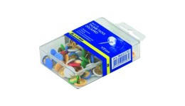Кнопки BUROMAX 5176 100шт кольорові пласт. контейнер (1/10/360)