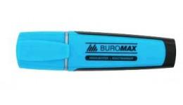 Текст-маркер BUROMAX 8900-02 флуорисцентний блакитний 2-4мм (12)