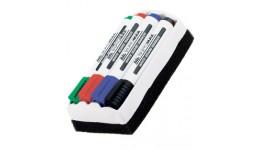 Набір маркерів д/магн. дошок BUROMAX 8800-84 на 4кол. + губка 2-4мм (1/12)
