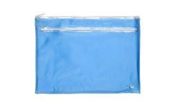 Папка-конверт А4 на блискавці AXENT 1427-07 прозора блакитна (1)