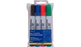Набір маркерів д/магн. дошок BUROMAX 8800-94 на 4кол. 2-4мм (1/24)