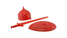 Набір Богатир (шлем  щит та меч)COLOR plast.