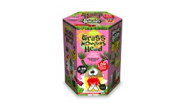 Набір д/пророщування рослини Grass Monsters Head 05 (поливай і спостерігай)+Чарівний Біб(у)(8)Д