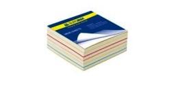 Блок паперу BUROMAX 2233 д/нотаток  Радуга  не склеєний 80*80*30мм (1/30)