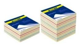 Блок паперу BUROMAX 2232 д/нотаток  Радуга  склеєний 80*80*30мм (1/30)