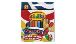 Олівці воскові CLASS 7603 кругла 12 кольорів 8-90мм (1)