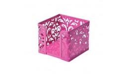 Бокс для паперу BUROMAX 6216-10 металевий Barocco 80х100х100мм рожевий (1/12)