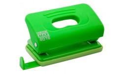 Діркопробивач BUROMAX  4016-15 пластиковий TOUCH   10арк св-зелений (1/12)