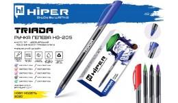 Ручка гелева HIPER Triada HG-205 0.6 червона (10/100)