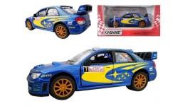 Машинка метал KINSMART KT5328W  інерція  1:36 SUBARU IMPREZA WRC 2007  в коробці