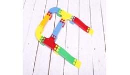 Іграшка дитяча    Кольорова дорога №2   артикул  (33 шт деталей)ТМ  Bamsic   виниловый тубус