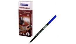 Маркер перманентний Centropen 2536-03 синій 1мм (12)