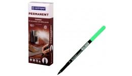 Маркер перманентний Centropen 2536-04 зелений 1мм (12)