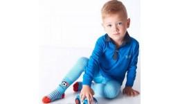 Колготки дитячі 122-128 D020 JUNIOR blue- 74% бавовна  23% поліамід  3% еластан