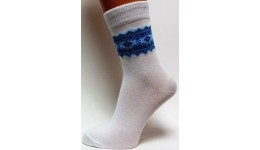 Дитячі шкарпетки DUNA 460 демі  22-24 голуба вишивка 52% поліамід 45% еластан 3%