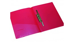 Папка-швидкозшивач 4OFFICE 4-213-01 А4 пласт. щільна+кишеня ЧЕРВОНА 500мкн (1/24)