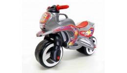 Каталка Мотоцикл з ручкою для переноски МЕТАЛІК (Кіндер Вей)