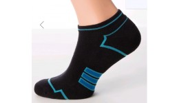 Шкарпетки  MS SPORT-05 calzino-black/mentol-45-46 бавовна 74% поліамід 24% еластан 2%