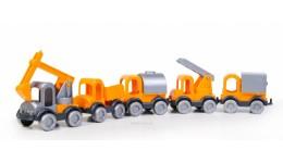 Kid Cars Маленький будівничок  5 шт. в сітці (Wader)