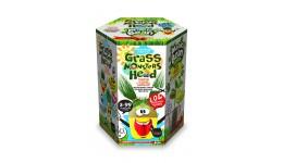 Набір д/пророщування рослини Grass Monsters Head 01 (поливай і спостерігай)+Чарівний Біб(у)(8)Д