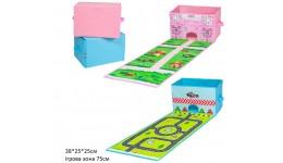 Кошик для іграшок YJ259210236-1-2 з ігровим килимком 38*25*25см 2в.кул.