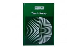 Канцелярська книга А4 BUROMAX 2400-104 тв. обкл. 96арк. клітинка  TIME IS MONEY зелений (1/8)