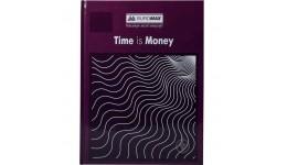 Канцелярська книга А4 BUROMAX 2400-107 тв. обкл. 96арк. клітинка  TIME IS MONEY фіолетова (1/8)