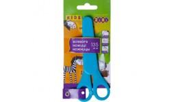 Ножиці дитячі ZiBi 5004-02 13 5см (сині) з лінійкою в чохлі (1/24)