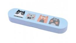 Пенал YES 532407 силіконовий 19*4 3*2 5см (МРЦ 169)  Cats  SL-02 (1)