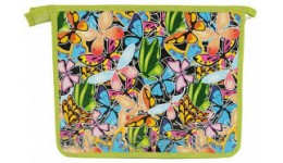 Папка А5 ПОЛІМЕР 460412 на блискавці  Метелики  (1/20)