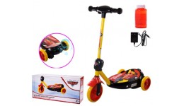 Електросамокат дитячий з мильними бульбашками 3-х коліс. MS212 Cars  колеса PU 110 мм