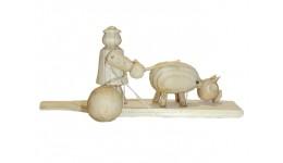 Заготовка під розпис і декупаж  Пастушок   без лако-фарбового покриття 12*15см