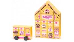 Конструктор  Candy shop  LDK1  (ТМ CUBіKA) дерев'яна іграшка  розвиваюча