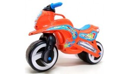 Каталка Мотоцикл з ручкою для переноски ОРАНЖЕВИЙ  KINDER WAY