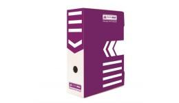 Архівний бокс BUROMAX 3261-07 картон. 355*255*100мм ФІОЛЕТОВИЙ (1/10)