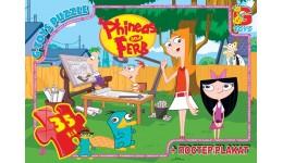 Пазли G-Toys   35 (335) Пригоди Фінеса та Ферба